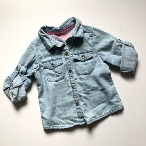Genuine kids chambray button down shirt